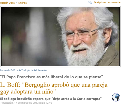 boff sobre francisco adopcion