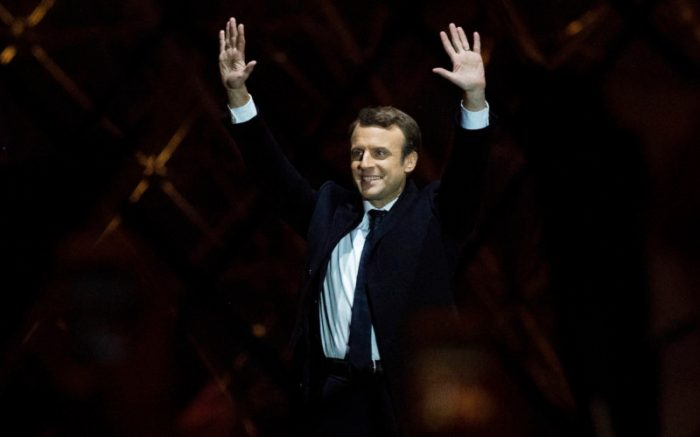 Emmanuel Macron Celebrates His Presidential Election Victory At The Louvre
