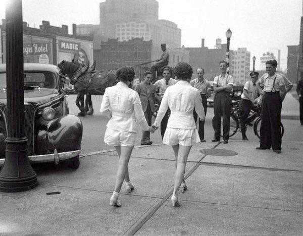 tho women show uncovered legs toronto 1937